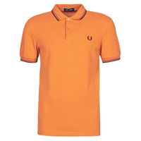 material Men short-sleeved polo shirts Fred Perry TWIN TIPPED FRED PERRY SHIRT Camel