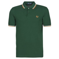 material Men short-sleeved polo shirts Fred Perry TWIN TIPPED FRED PERRY SHIRT Green