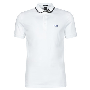 material Men short-sleeved polo shirts BOSS PAULE White / Blue