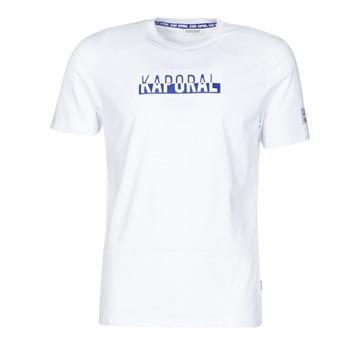 material Men short-sleeved t-shirts Kaporal DINO White