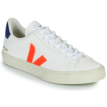 Shoes Low top trainers Veja CAMPO White / Orange / Blue