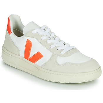 Shoes Low top trainers Veja V-10 White / Orange