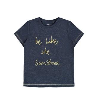 material Girl short-sleeved t-shirts Name it NKFDEVIRA Marine