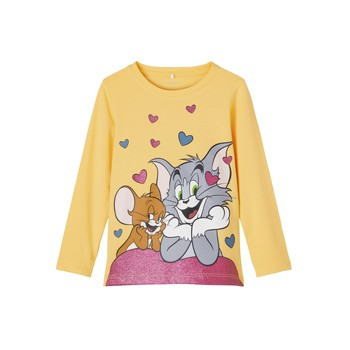 material Girl Long sleeved shirts Name it TOM&JERRY Yellow