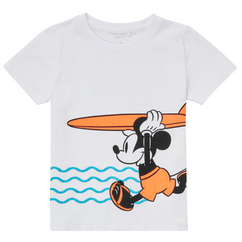 material Boy short-sleeved t-shirts Name it NMMMICKEY White
