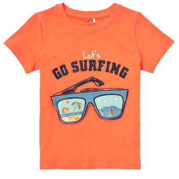 material Boy short-sleeved t-shirts Name it NMMFANO Orange