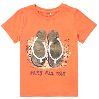 material Boy short-sleeved t-shirts Name it NMMFASHO Orange