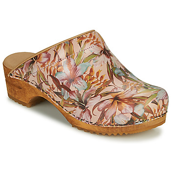 Shoes Women Clogs Sanita ORCHID Beige / Pink / Blue
