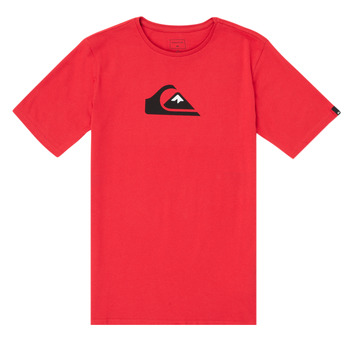 material Boy short-sleeved t-shirts Quiksilver COMP LOGO Red