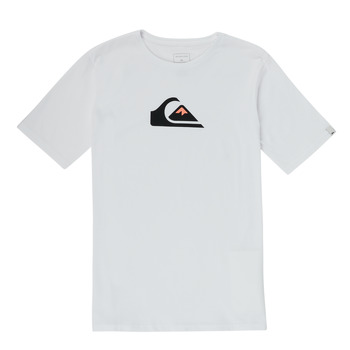 material Boy short-sleeved t-shirts Quiksilver COMP LOGO White