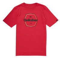 material Boy short-sleeved t-shirts Quiksilver HARD WIRED Red