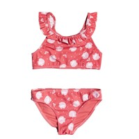 material Girl Bikini Roxy TEENY EVERGLOW CROP TOP SET Pink