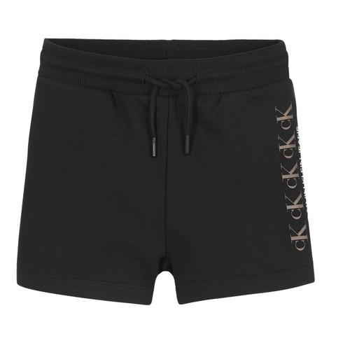 material Girl Shorts / Bermudas Calvin Klein Jeans CK REPEAT FOIL KNIT SHORTS Black
