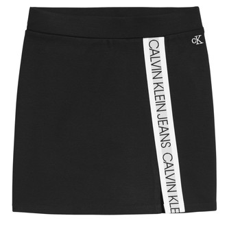 material Girl Skirts Calvin Klein Jeans LOGO TAPE PUNTO SKIRT Black