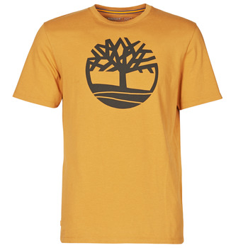 material Men short-sleeved t-shirts Timberland SS KENNEBEC RIVER BRAND TREE TEE Camel