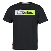 material Men short-sleeved t-shirts Timberland SS KENNEBEC RIVER PUFFED JERSEY CREW LINEAR REGULAR Black