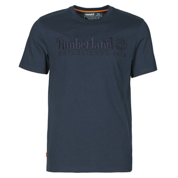 material Men short-sleeved t-shirts Timberland SS OUTDOOR HERITAGE LINEAR LOGO TEE REGULAR Marine