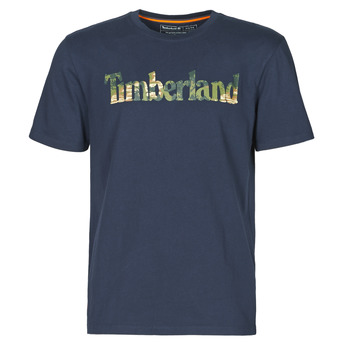 material Men short-sleeved t-shirts Timberland SS KENNEBEC RIVER SEASONAL PATTERN LINEAR LOGO TEE Marine