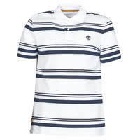 material Men short-sleeved polo shirts Timberland SS ZALAND RIVER YS STRIPE POLO REGULAR White / Marine
