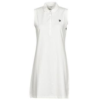 material Women Short Dresses U.S Polo Assn. AMY DRESS POLO SLEEVELESS White