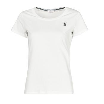 material Women short-sleeved t-shirts U.S Polo Assn. BELLA R NECK TEE SS White