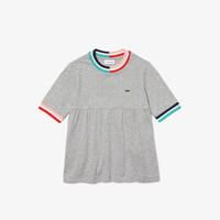 material Girl short-sleeved t-shirts Lacoste TJ0241-SRR Grey