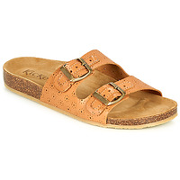 Shoes Women Mules Kickers ECOLOG Camel / Clear