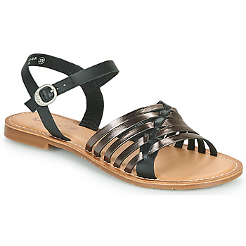 Shoes Women Sandals Kickers ETCETERA Black / Silver