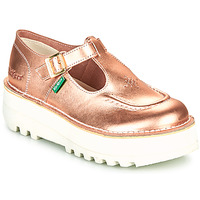 Shoes Women Ballerinas Kickers KICKOUSTRAP Pink / Metal
