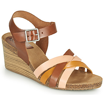 Shoes Women Sandals Kickers SOLYNIA Pink / Brown / Yellow