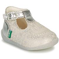 Shoes Girl Ballerinas Kickers BONBEK-2 Silver