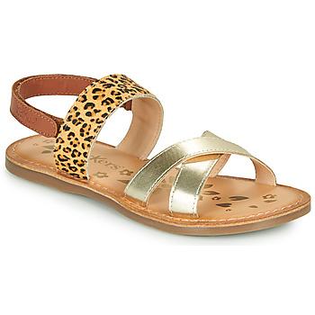 Shoes Girl Sandals Kickers DYACROSS Gold