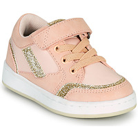 Shoes Girl Low top trainers Kickers BISCKUIT Pink