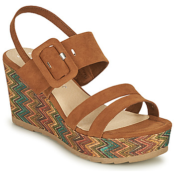 Shoes Women Sandals Marco Tozzi CONIA Cognac
