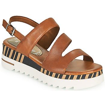 Shoes Women Sandals Marco Tozzi ANTINI Cognac