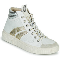 Shoes Women High top trainers Palladium Manufacture TEMPO 03 TXT White