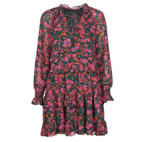 material Women Short Dresses Moony Mood  Black / Pink