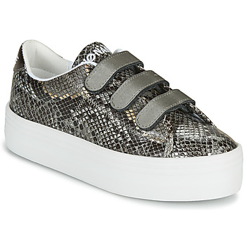 Shoes Women Low top trainers No Name PLATO M STRAPS Black