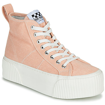 Shoes Women High top trainers No Name IRON MID Pink