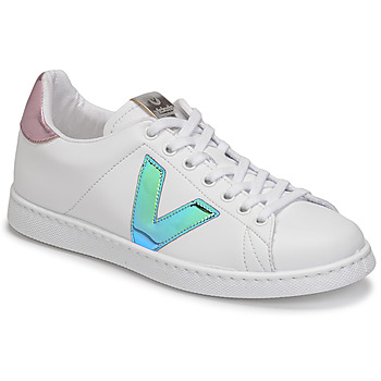 Shoes Women Low top trainers Victoria TENIS VEGANA VINI White / Blue / Pink
