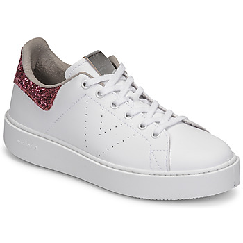 Shoes Women Low top trainers Victoria UTOPIA GLITTER White / Pink