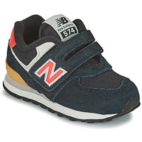 Shoes Boy Low top trainers New Balance 574 Black / Orange