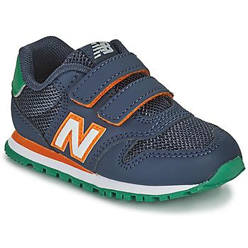 Shoes Boy Low top trainers New Balance 500 Blue / Orange