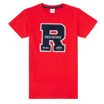 material Boy short-sleeved t-shirts Redskins TSMC180161-RED Red