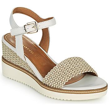 Shoes Women Sandals Tamaris ALIS White / Beige
