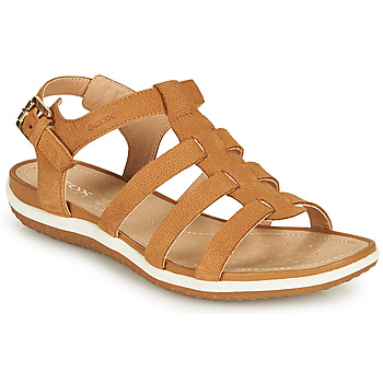 Shoes Women Sandals Geox D SANDAL VEGA A Cognac
