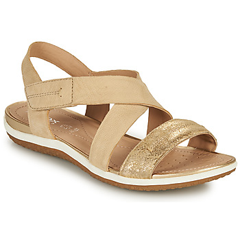 Shoes Women Sandals Geox D SANDAL VEGA E Beige / Gold