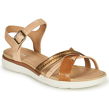 Shoes Women Sandals Geox D SANDAL HIVER A Beige / Bronze