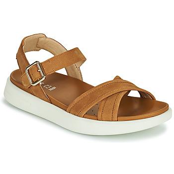 Shoes Women Sandals Geox D XAND 2S B Cognac