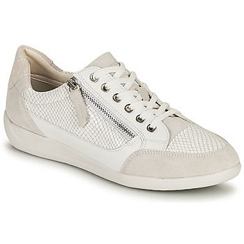 Shoes Women Low top trainers Geox D MYRIA A White